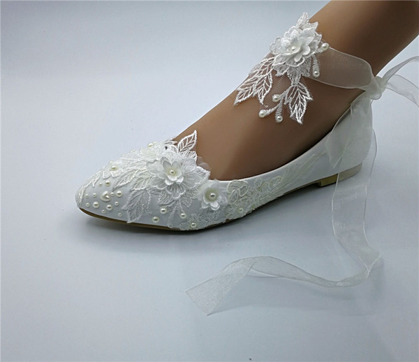flache Hochzeit Schuhe