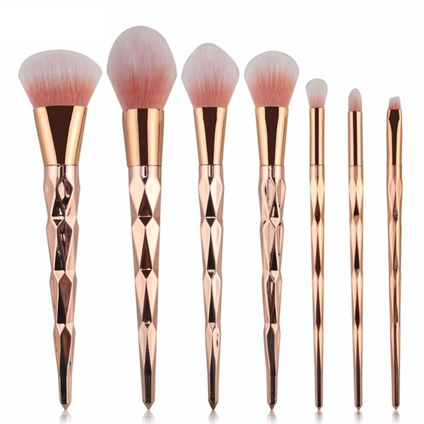 11.11 Best Sale 7/10pcs Makeup Brushes Set Powder Foundation Eye Shadow Face Blush Blending Cosmetics Beauty Make Up Brush Tool D18111302
