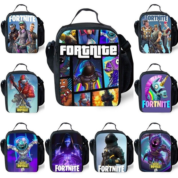 top popular 2018 Anime Prints Thermal Insulate Lunch Bags Men Boys Portable Cooler Lunch Box Picnic Girl Women Backpack 2020