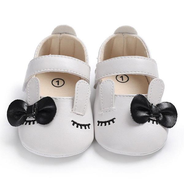 Großhandel Baby Jungen Mädchen Schuhe Kleinkind Kinder Neugeborenen Kleidung Leder Geometrie Bogen Baumwolle Weiche Krippe Schuhe 0 18Months Von