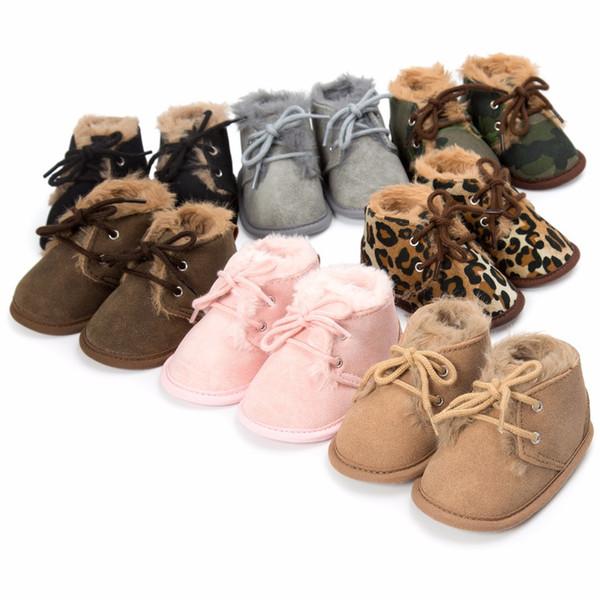 2018 yeni kış bebek süper sıcak çizmeler ile kürk bebek erkek kız çizmeler ilk yürüyüşe sofe taban 0-18 ay ayakkabı