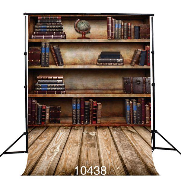 bookshelf photography backdrop nostalgic wooden floor photo background vinyl cloth 3D backgrounds for photo studio portrait door
