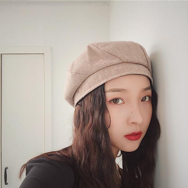 neue mode herbst winter einfarbig berets hut temperament bequem warm lässig süße dicke nette frauen neue ankunft barets