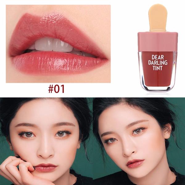 Waterproof Liquid Lipstick Ice-Cream Shaped Water Lip Tints Makeup Moisturizing Lasting Natural Charming Lip Stick