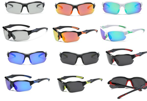 best selling Windproof PC UV400 half frame goggles hunting camping hiking fishing riding outdoor sport sunglasses eye protective women men eyewear ey001