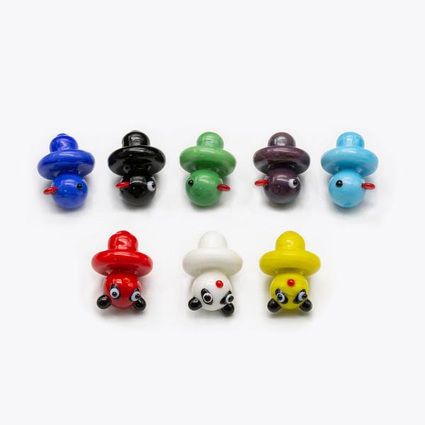 Colored UFO Quartz Banger Bubble Carb Cap Hat Duck Dome for Quartz Thermal P Banger Nails Dabber Glass Bongs Dab Oil Rigs