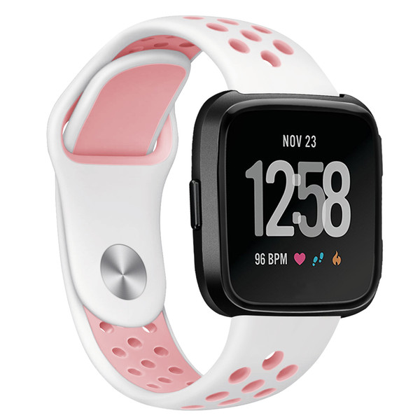 for Fitbit Versa Bands, Replacement Silicone Sport Band Bracelet Strap with Ventilation Holes for 2018 Fitbit Versa Smart Watch