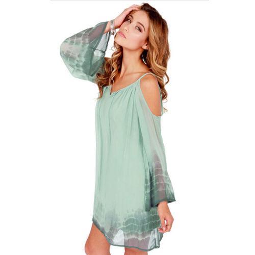 New Sexy Women V-neck Long Sleeve Casual Dresses Summer Party Short Mini Dress Fashoin Girls' Clothing