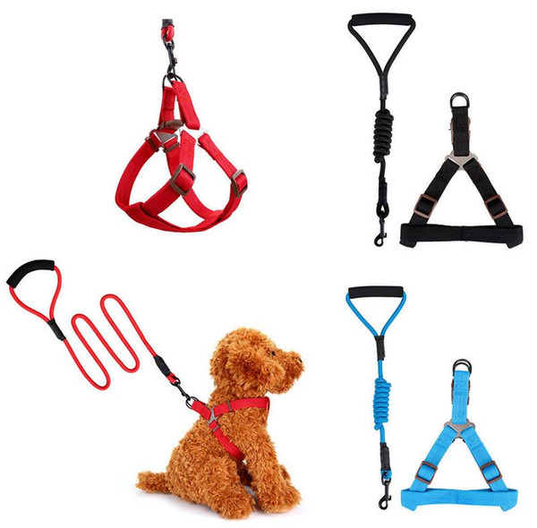 best selling Pet Dog Training Leash Collar 5 Colors 120cm dog leashes with harness multi colors durable traction rope EEA298