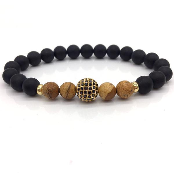 Ball Männer Armbänder 2019 Klassische Mode Stein Perlen Charme Armbänder Armreifen Für Männer Schmuck Geschenk