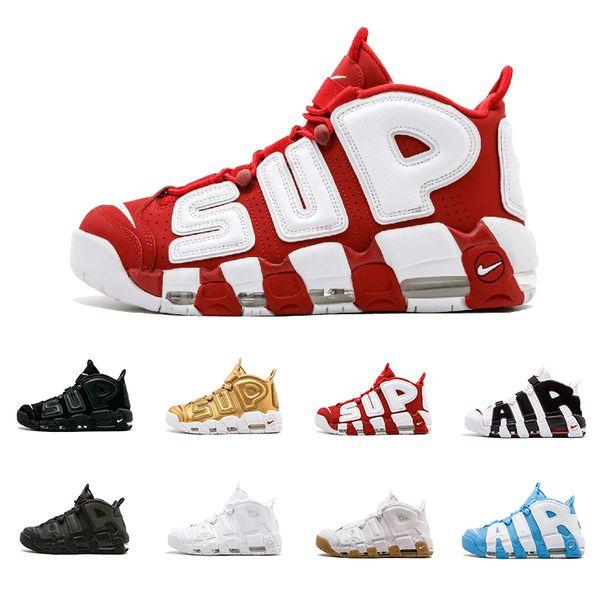 Compre Nike Air More Uptempo OG 2018 Air Más 96 QS Olympic Varsity Maroon Zapatillas De Baloncesto Para Hombre CHI Black Gold Airs 3M Scottie Pippen