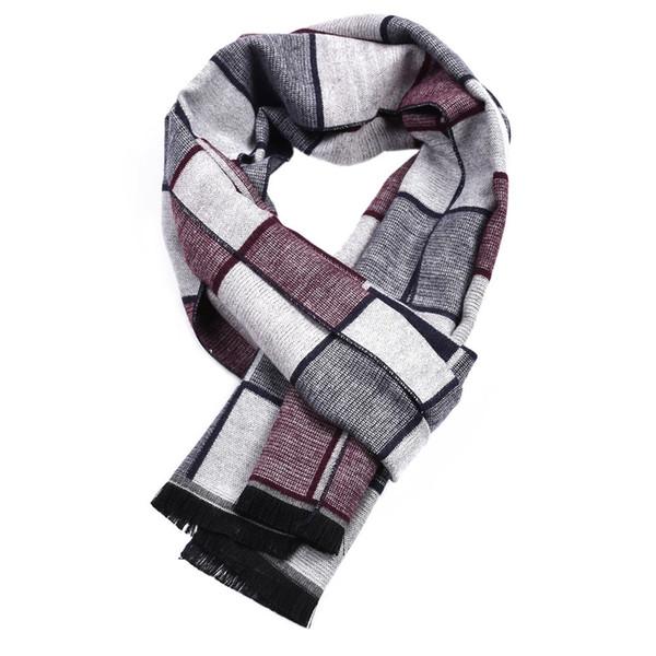 Guttavalli Moda Erkekler İngiliz Küçük Kareli Uzun Sıcak Şal Kış Pamuk Geometrik Eşarp Erkek Chevron Stripes Çekler Eşarp