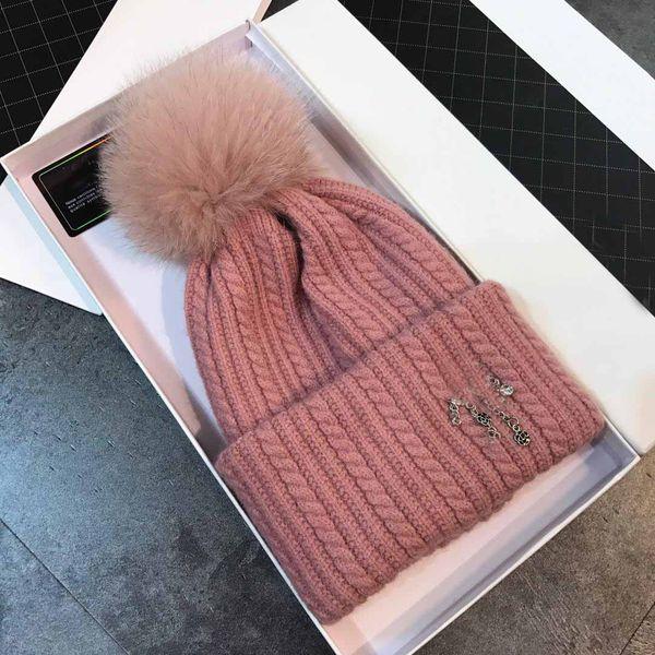 Fast ship winter high quality women fashion Dobby hat Brand designer style wool cap dual-use neckerchief Skull Cap Female Beanie scarf + box