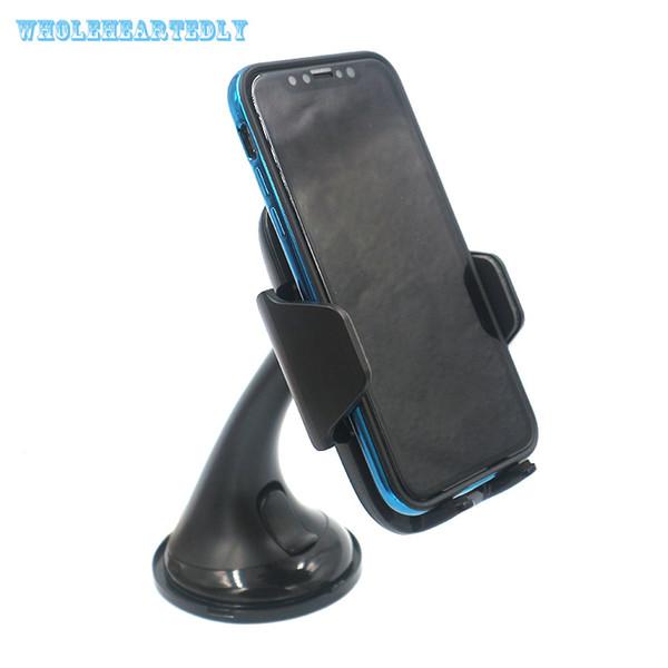 Araba Kablosuz Şarj Araç Dock Araç Telefonu Tutucu Enayi Montaj dirseği iphone x 8 samsung galaxy s7 s8 artı kenar s6 için standı
