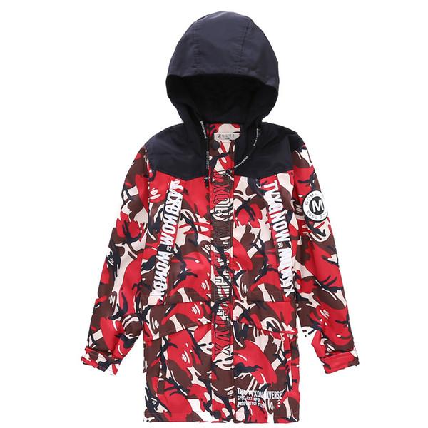 2018 Hot Children's Jacket Big Boy Spring Autumn Camouflage Jackets Boy Outdoor Windbreaker Kids' Outwear Coats