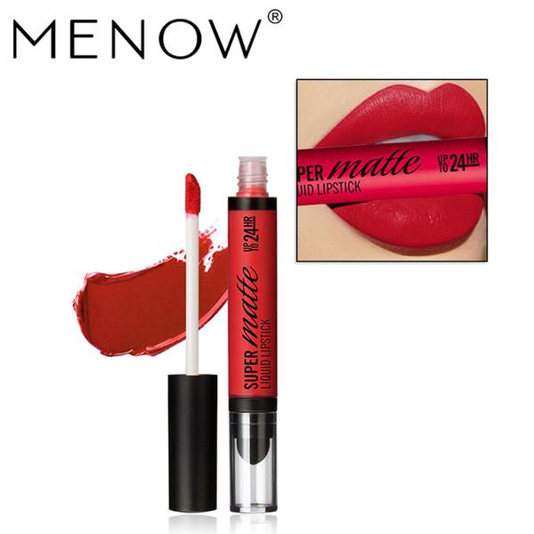 MENOW Marca Perfeito Lip gloss Cosméticos de Longa Duração Líquido Matte Batom Hidratante Lip gloss Whole sale make up L506