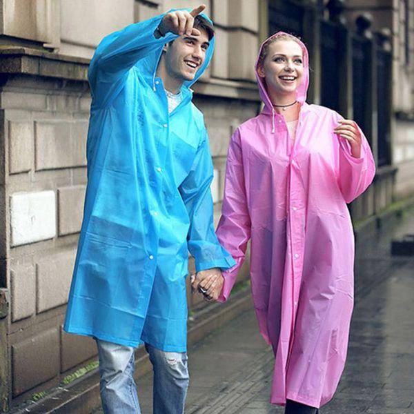 best selling Thin Waterproof Unisex Rain Jacket Summer Raincoats Outside Walking Products Semi Transparent Rainwear Rain Gear Supplie