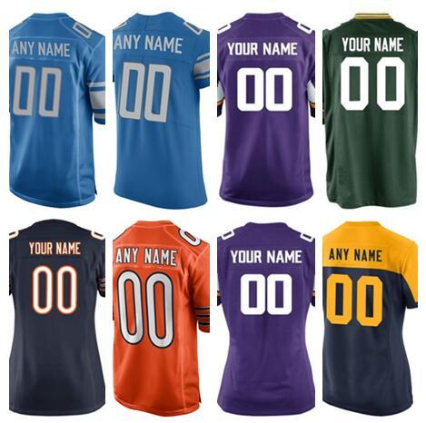 promo code 86403 97a07 Personalized Green Chicago Bay Vikings Packers Bears Lions American  Football Jersey Custom Salute To Service Color Rush Jersey 5XL Factory T  Shirt ...