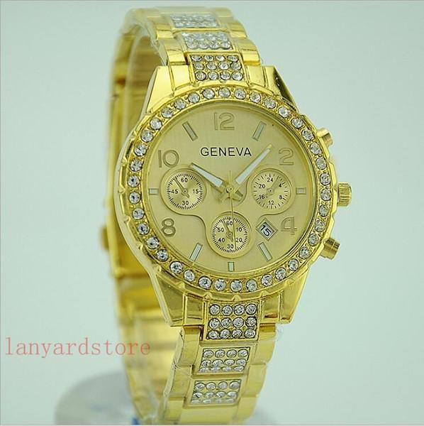 Uhr-Marken-Luxux18K Golduhrmänner Geschäfts-Quarz-Armbanduhr-Mann-Kalender-goldene Art- und Weiseuhr-beiläufige Uhren 2018 Geschenkpaare