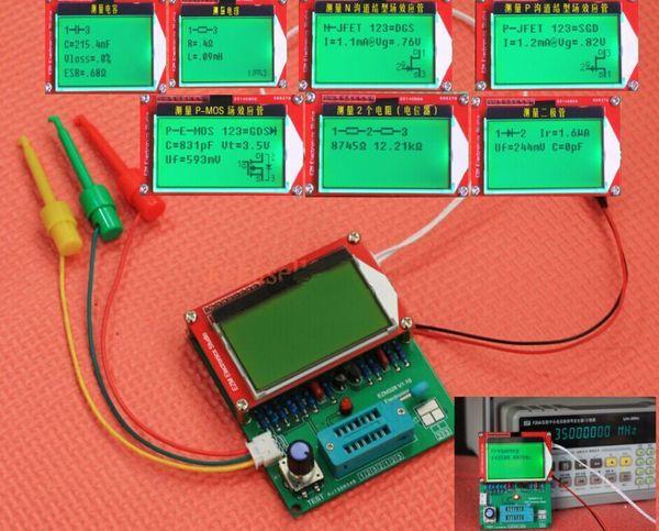 Freeshipping DIY KITS EZM328 Digital Combo transistor tester ESR frequency LCR Diode Capacitor meter PWM squarer wave genera