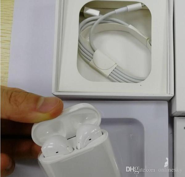 Drahtlose Bluetooth Air plus Ohrhörer Kopfhörer-Headset für Iphone mit Ladekoffer Abdeckung Basis USB-Kabel für iPhone IOS andriod