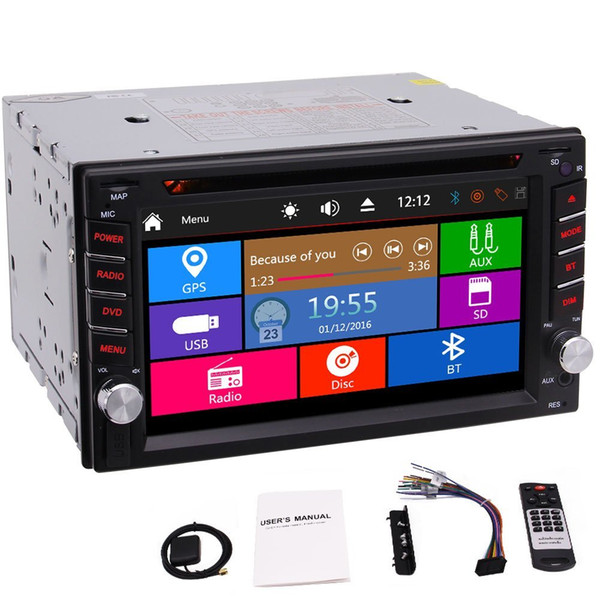 WIn8 Car Radio In Dash 6.2'' Screen Double Din Car Stereo car DVD Player GPS Navigation USB/AUX Input Bluetooth 1080P FM