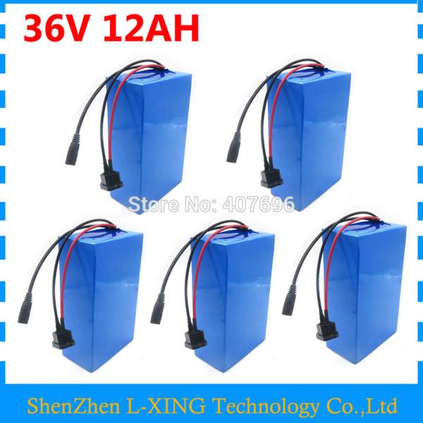 500W 36V 12AH batterie 36V vélo électrique batterie 12ah 36v batterie utiliser 15A BMS 2A chargeur frais de douane gratuits 5 PCS en gros