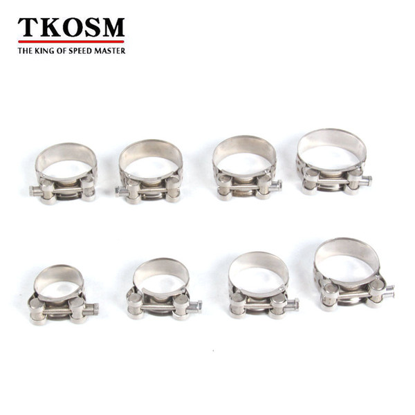 TKOSM Universal 17-139mm Motorcycle Exhaust Accessories Clamp Clip For Slip-on Type Motorcycle Muffler Silencer Stainless Steel