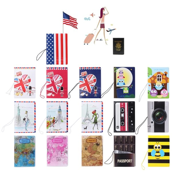 THINKTHENDO Fashion Korea Style 3D Passport Holder PVC Travel Passport Cover Case Card & ID Holders Hot Sale