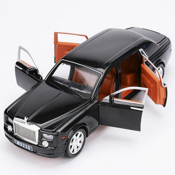 1/24 ROLLS ROYCE DIECAST CAR CON PUERTAS ABIERTAS PULL BACK MODEL TOYS ROLLS-ROYCE PHANTOM SOUND LIGHT BOYFRIENDS REGALO PARA NIÑOS