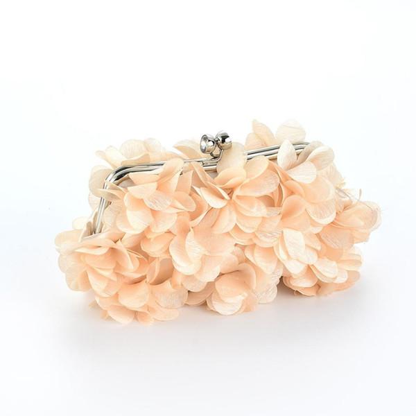 SFG HOUSE Elegant Flower Handbag Women Evening Party Bags Luxury Wedding Mini Bag Casual Clutch Chain Strap Shoulder Elegant Bag