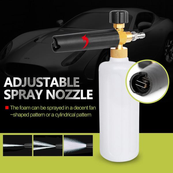 "Adjustable 1L Foam Car Sprayer Pressure Washer Jet Wash 1/4"" Quick Release Adjustable Snow Foam Lance Foam Cannon tools Car-Styling"