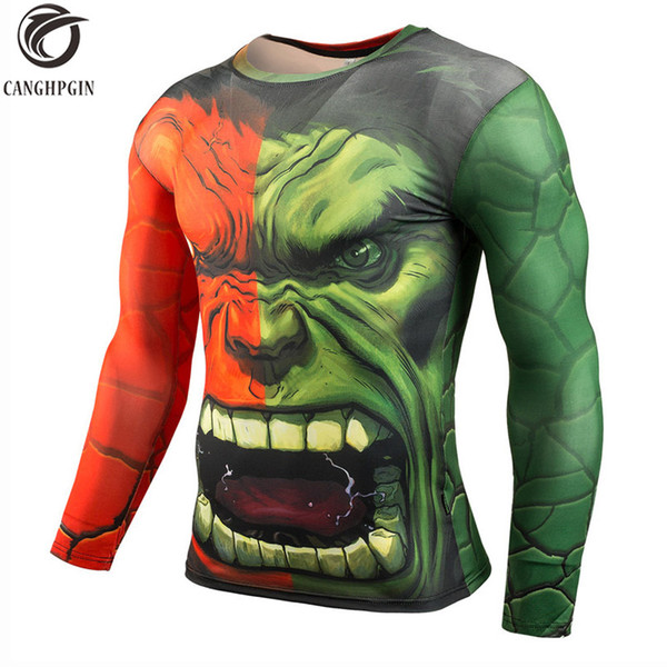 Superhero Black Panther 3D Printed T shirts Running shirt Men Long Sleeve Breathable Rashgard Man Gym Fitness Cycling tshirt Top