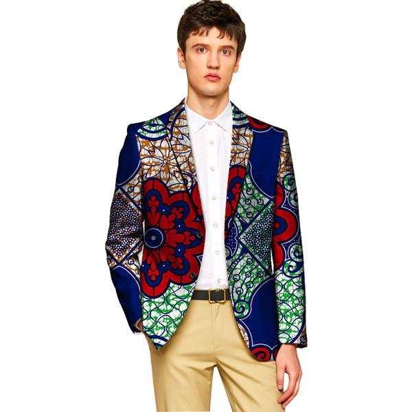 Acheter Costume Dashiki Pour Homme Veste Blazers À Imprimé Africain Pour  Modèle De Fête / Mariage Homme Imprimé Rétro Vêtements Africains Sur Mesure