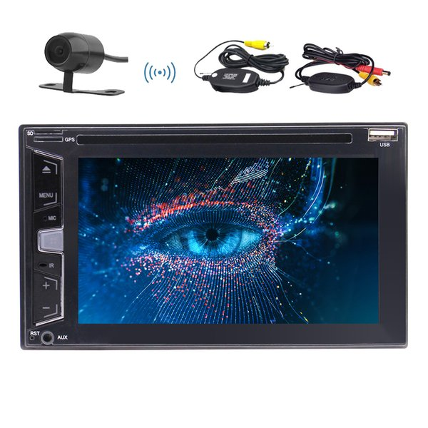 Wireless Camera as+EinCar Bluetooth Car Stereo Audio 2 DIN In Dash FM AM Radio Receiver MIC MP3 Radio car DVD Player Remote Control