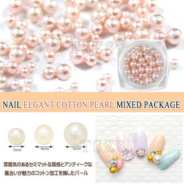 1pot/lot colorful elgant cotton Pearls Pot Round mixed size Wedding Nail Art Craft Decoration