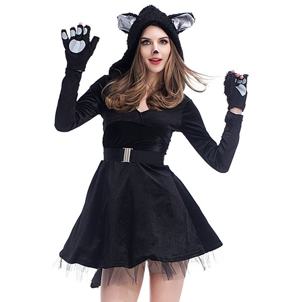 e4213cdcbffd carnival bears Coupons - Halloween Black Bear Costume for Women Sexy  Carnival Animal Cosplay Fancy Dress