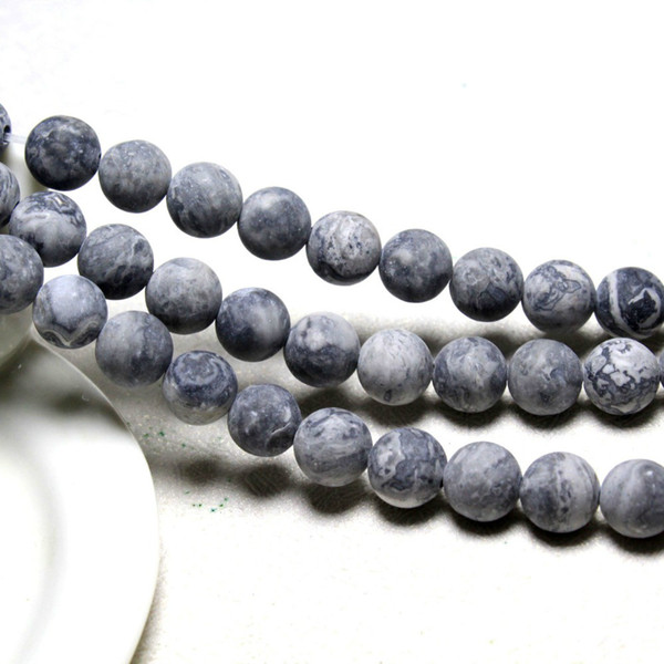 Wholesale 6-8-10 mm Black Agate Onyx Round Loose Beads Gemstone 15/'/'