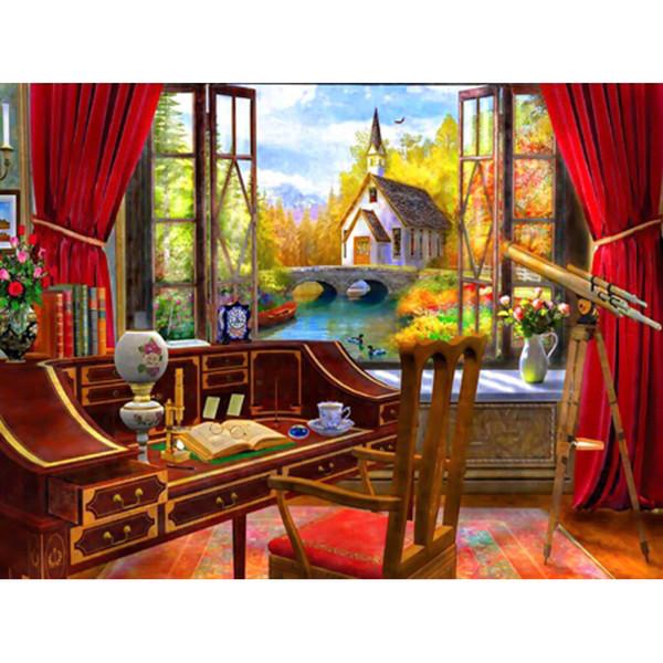 Room Piano Desk, Cross Stitch Diamond Embroidery Home Decoration 5D Diy Diamond Painting Rhinestone Painting Crafts Gifts