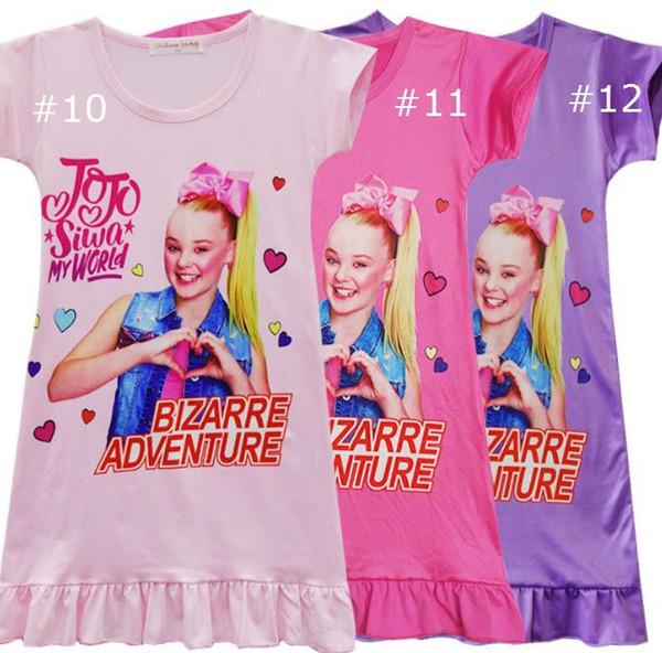 Mädchen Weste Rock JOJO Headbow Hoodies Mädchen Kurzarm Home Tücher Mädchen Liebste Pyjama Kleid für 4-12 t
