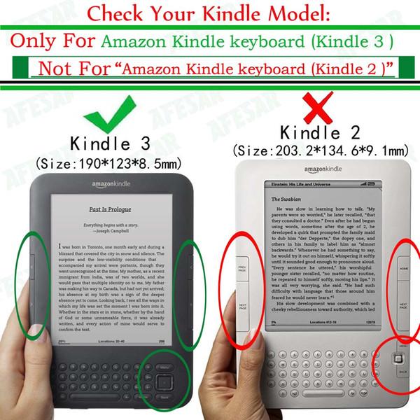 Flip Book Cover Case For Amazon Kindle 3 3rd Gen Ereader Leather Pocket Case Magnetic Closured Kindle Keyboard 3rd Gen Pouch Tablet 8 Case Case For