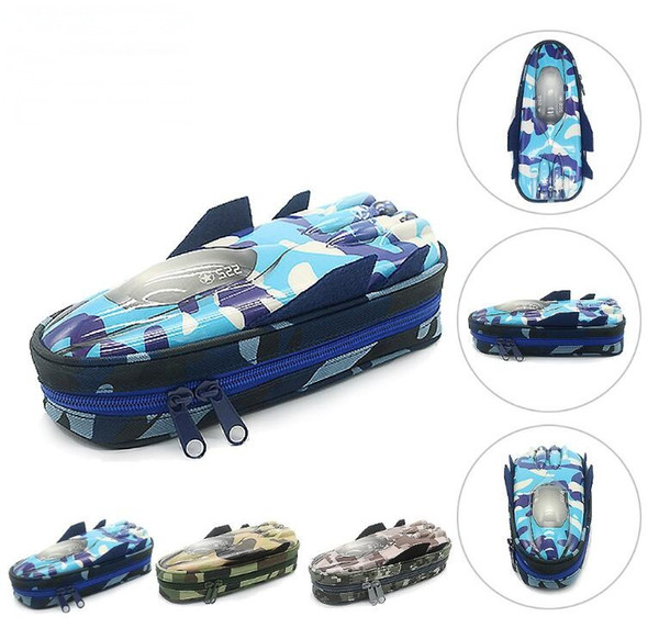 Camouflage Fighter eva pen case pencil bag multi-function lock student stationery Case Pouch Cosmetic Makeup Bag