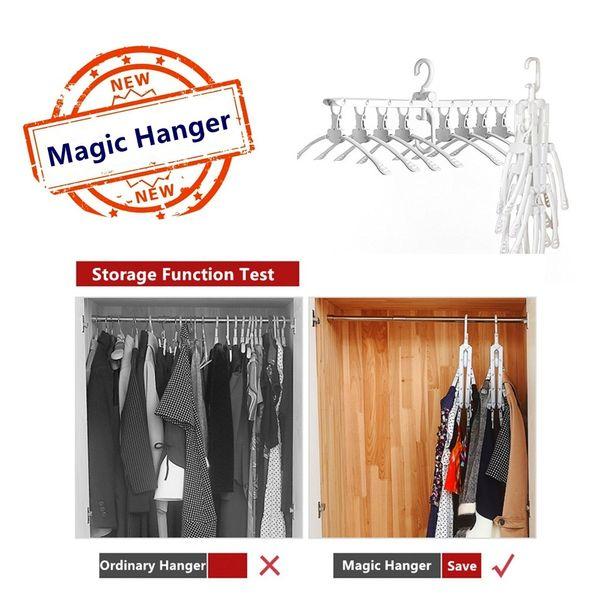 Wholesale 8 in 1 Multifunctional Magic Clothes Hanger Closet Organizer Hanger Cabinet Drying Coat Rack Home Organization Free Shipping