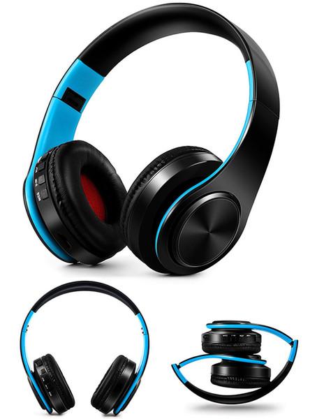 Auriculares inalámbricos originales coloridos Auriculares Bluetooth Auriculares estéreo con micrófono y ranura para tarjeta SD
