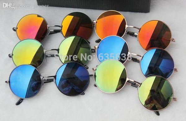 Großhandels-heißer Verkauf John Lennon Style Round Sunglasses 60s Retro Glasses Sunnies Shades