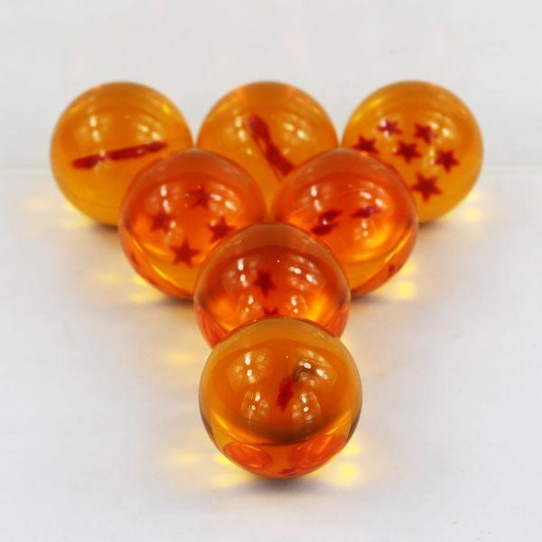 Figuras 7 pçs / lote Dragon Ball Z Brinquedos 3.5 cm Novo Em Caixa de Dragon Ball 7 Estrelas de Cristal Bola De Dragão Z Bolas Completa jogo de Ação de Varejo