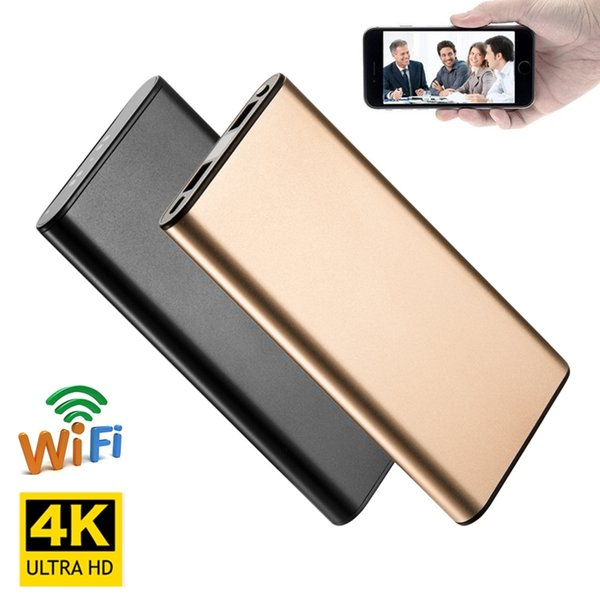 4K HD Wifi Network Portable Power Bank Camera Night Vision Nanny Cam Motion Detection Long Video Recording for IOS/Android PC Real-time View