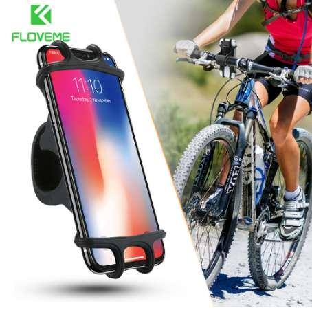 FLOVEME Supporto per telefono per bicicletta per iPhone Supporto universale per cellulare Samsung Supporto per clip da manubrio per bici Supporto per GPS
