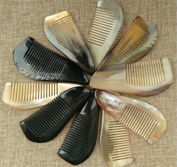 100pcs Useful OX Horn Combs Pocket Tool Straight Hair Comb Natural Health Massage Brush Portable Handmade Craft Gift X097