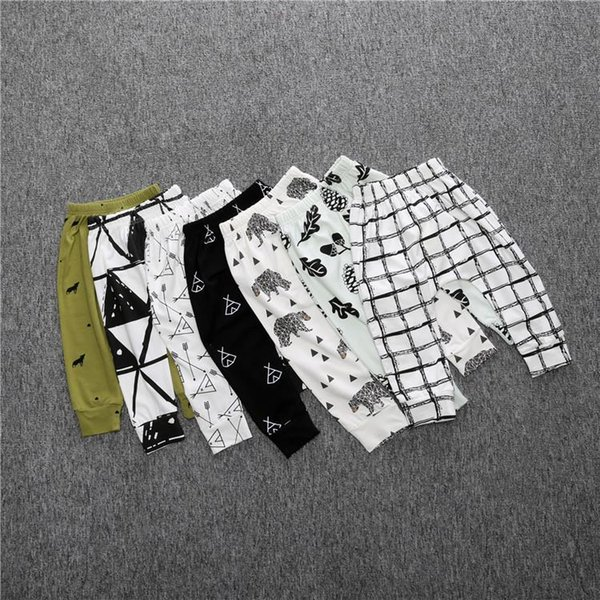 Children Pants Harem Pants Kids Autumn Fashion Cotton Boy Girl Pants Sleepping 1-3Years Baby Clothing Trousers